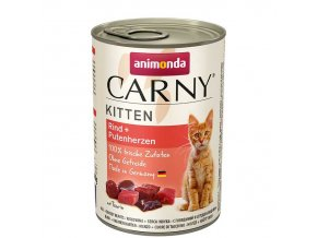 ANIMONDA Carny kitten hovězí + krůtí srdíčka 200g