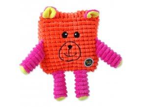 Hračka BeFUN CALYPSO senior čtverec oranžový 12,5 cm
