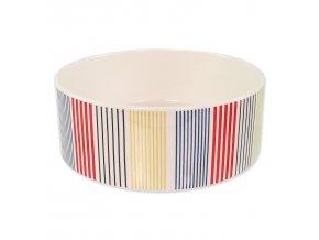 Miska DOG FANTASY keramická barevné pruhy 20 cm 1,5l
