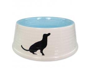 Miska DOG FANTASY keramická motiv pes bílo-modrá 21 cm 1l