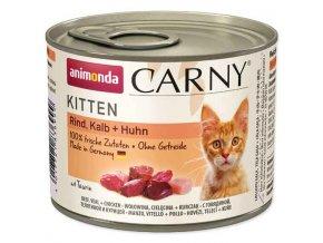 ANIMONDA Carny kitten hovězí, telecí + kuřecí 200g