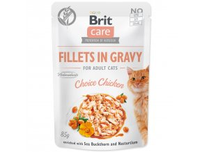 Kapsička BRIT Care Cat Fillets in Gravy Choice Chicken 85g
