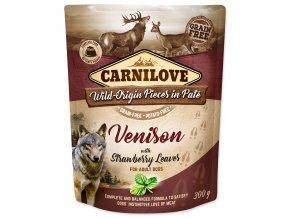 CARNILOVE Dog Paté Venison with Strawberry Leaves 300g