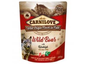 CARNILOVE Dog Paté Wild Boar with Rosehips 300g