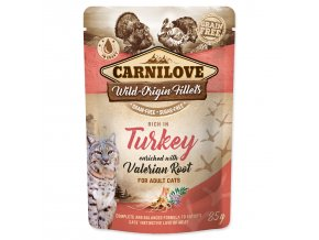 CARNILOVE Cat Rich in Turkey enriched with Valerian Root 85g
