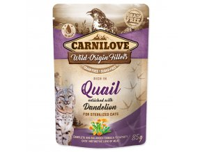 CARNILOVE Cat Castrate Rich in Quail enriched with Dandelion 85g