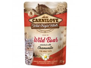 CARNILOVE Cat Rich in Wild Boar enriched with Chamomile 85g
