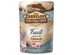 CARNILOVE Cat Rich in Trout enriched with Echinacea 85g