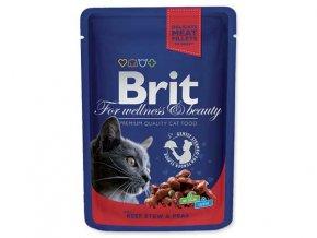 BRIT Premium Cat kapsička Beef Stew & Peas 100 g