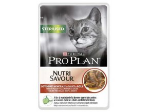 Pro Plan Cat kapsička Sterilised Beef 85 g