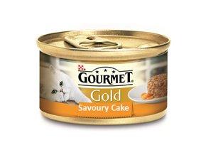 GOURMET Gold konzerva Savoury Cake  s kuřetem a mrkví 85 g
