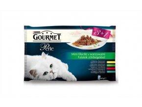 Gourmet Perle kapsička Multipack filety ve šťávě se zeleninou 4 x 85 g (3+1zdarma)