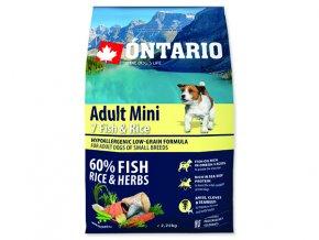ONTARIO Adult Mini Fish & Rice 2,25 kg