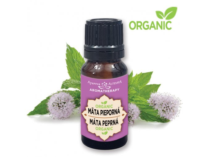 509 altevita organic mata pieporna peppermint olej dezinfekcie a sviezosti 10ml