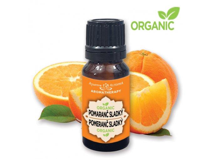 512 altevita organic pomaranc esencialny olej 10ml olej optimizmu