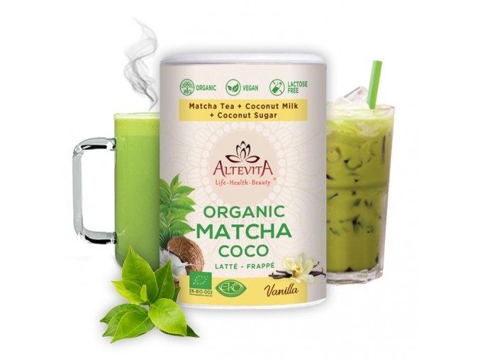 683 altevita bio matcha coco latte frappe 220g