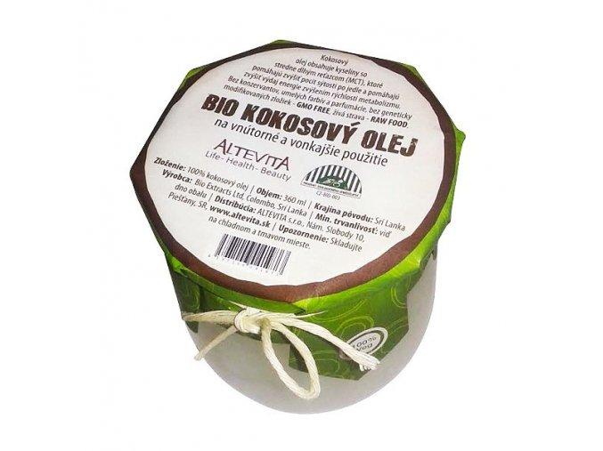 1160 altevita bio raw kokosovy olej 360ml