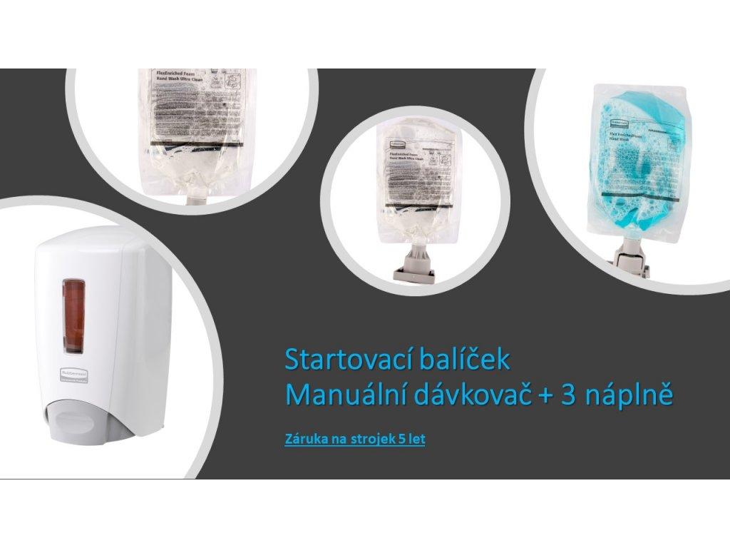 Startovací balíček dávkovač mýdla Flex 500 ml