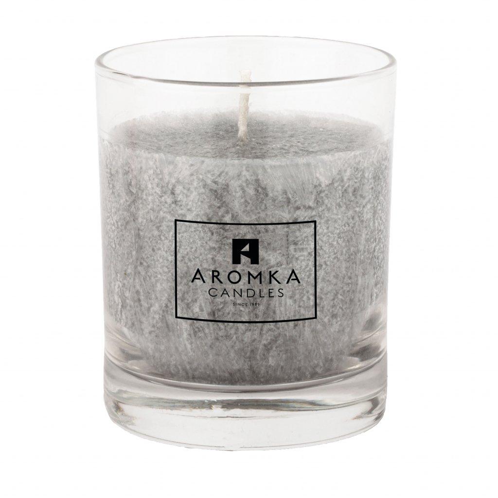 Přírodní vonná svíčka palmová - AROMKA - Whiskovka, 250 ml - Pánský Parfém