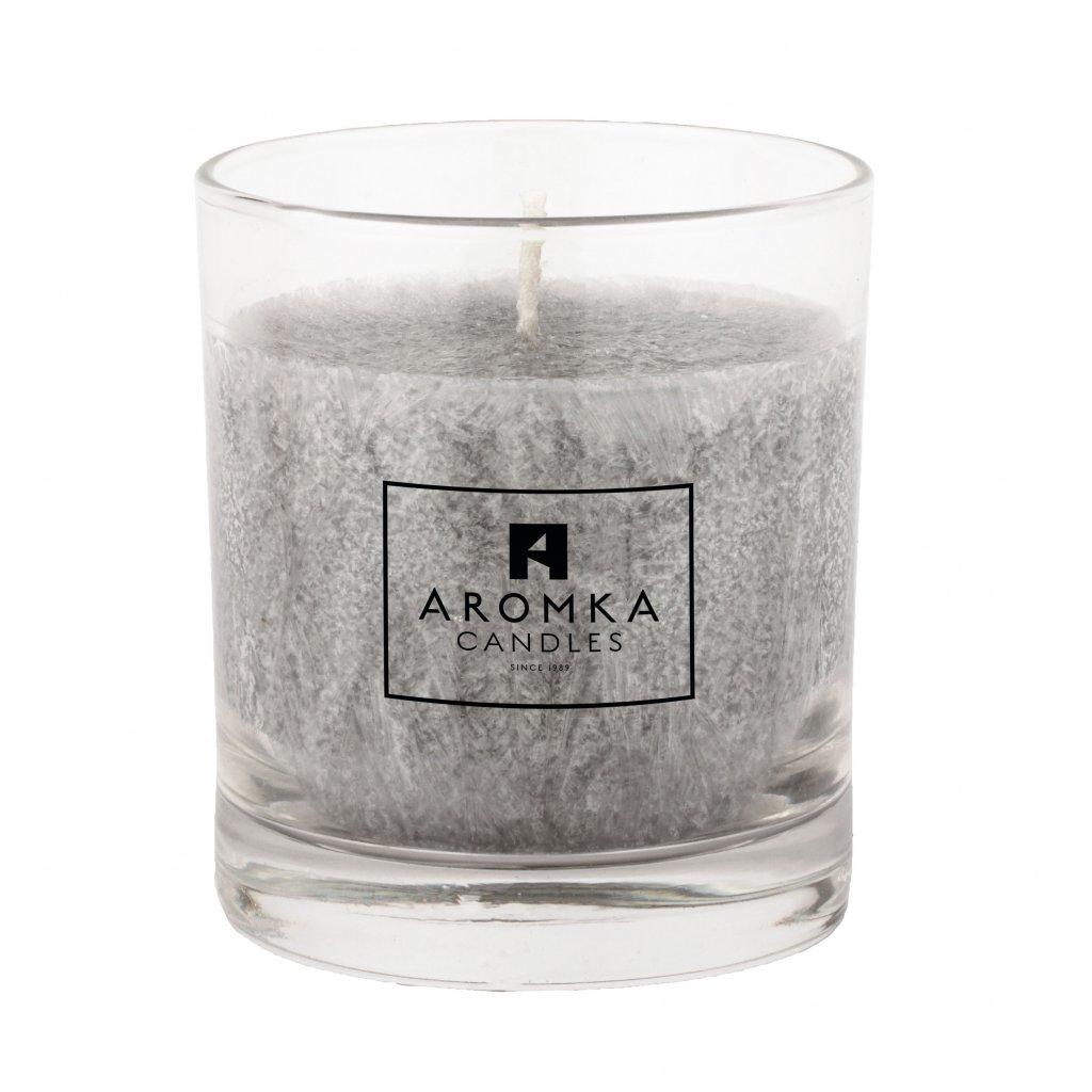 Přírodní vonná svíčka palmová - AROMKA - Whiskovka, 200 ml - Pánský Parfém