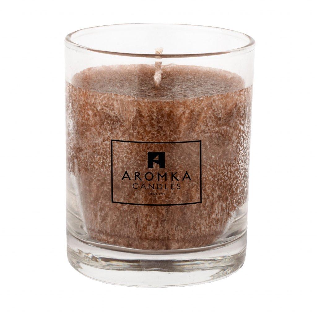 Přírodní vonná svíčka palmová - AROMKA - Whiskovka , 250 ml - Gentleman