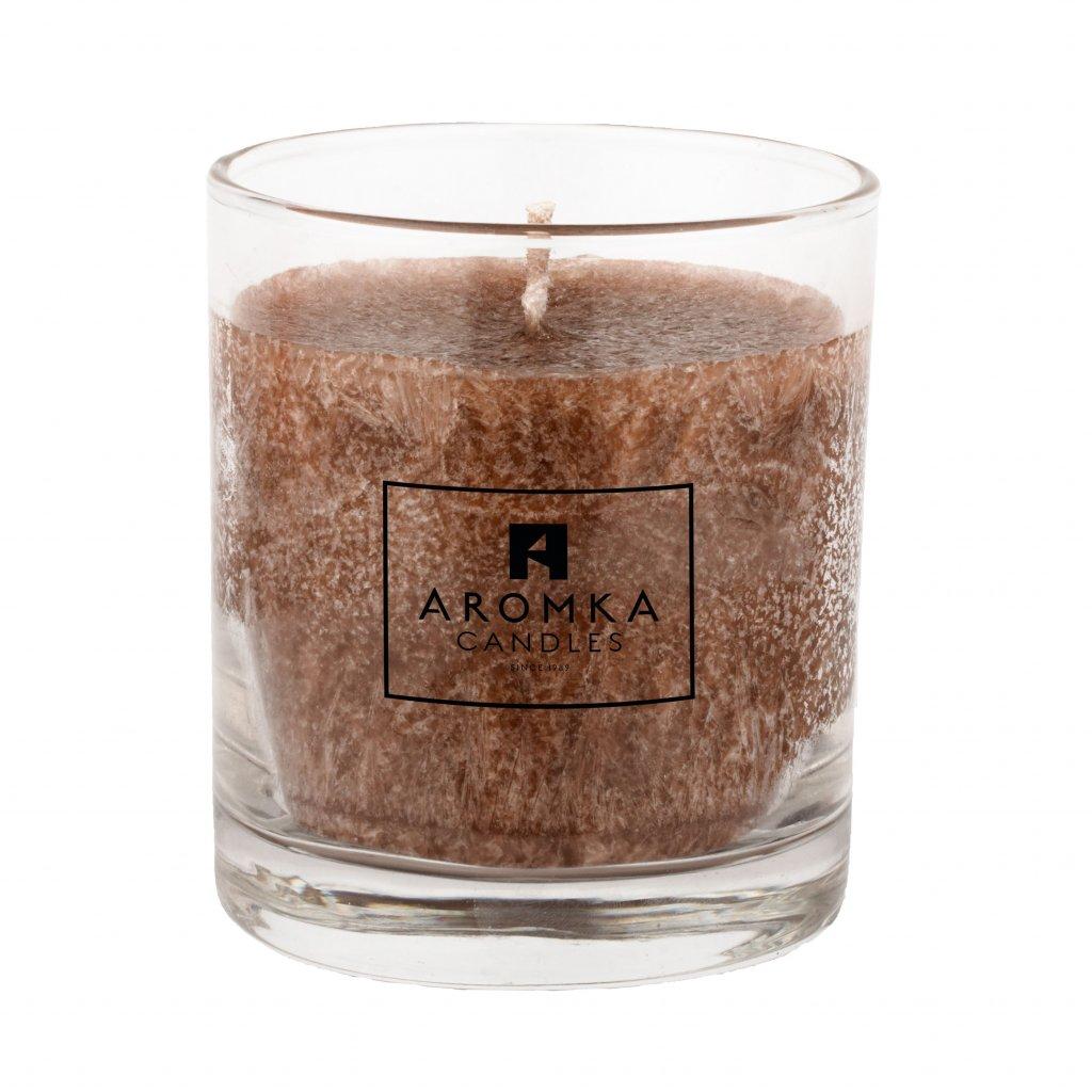 Přírodní vonná svíčka palmová - AROMKA - Whiskovka, 200 ml - Gentleman