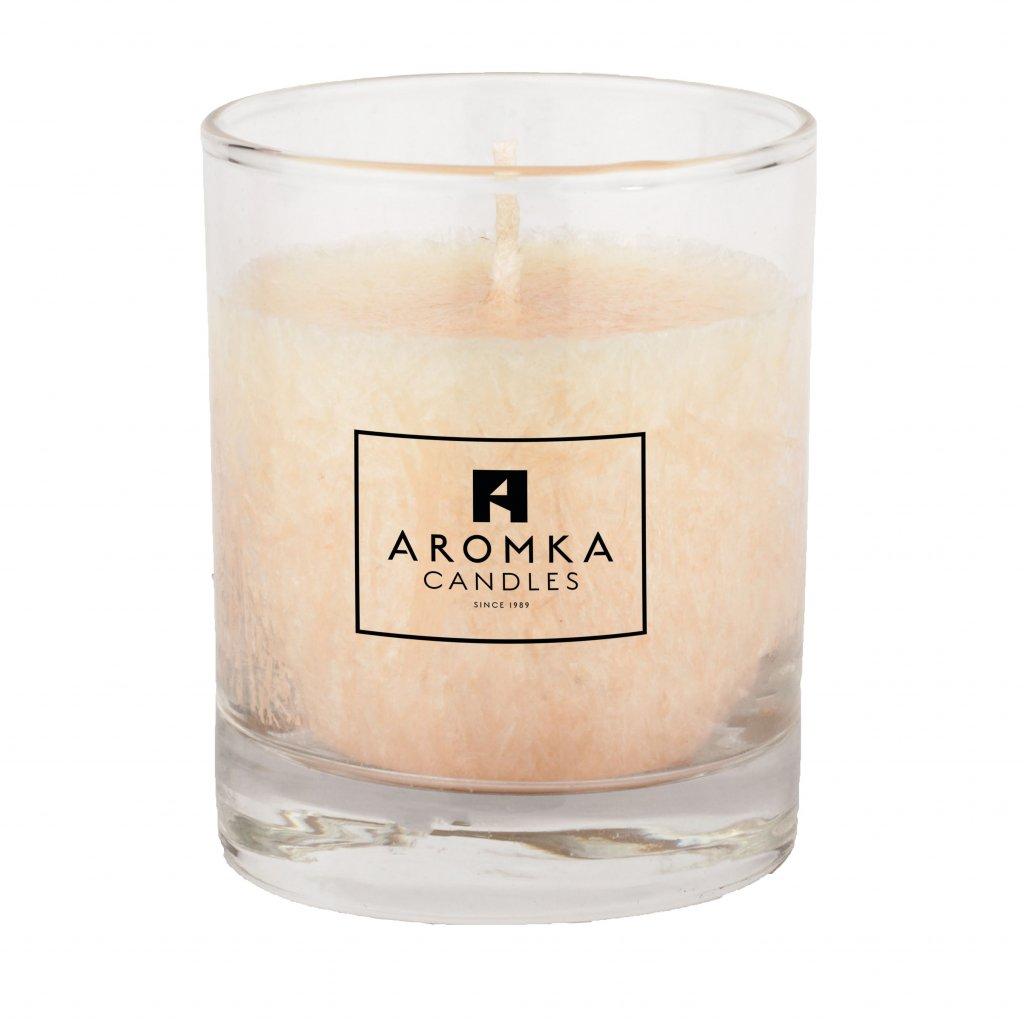 Přírodní vonná svíčka palmová - AROMKA - Whiskovka, 250 ml - Vanilka