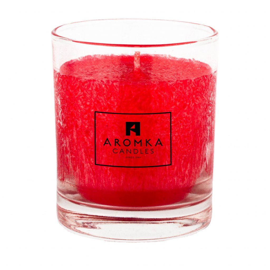 Přírodní vonná svíčka palmová - AROMKA - Whiskovka, 250 ml - Vánoční Punč
