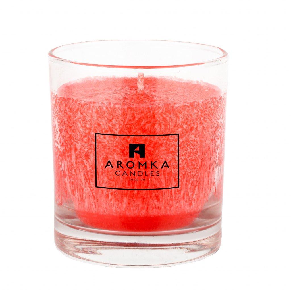 Přírodní vonná svíčka palmová - AROMKA - Whiskovka, 200 ml - Rubínové Jablko