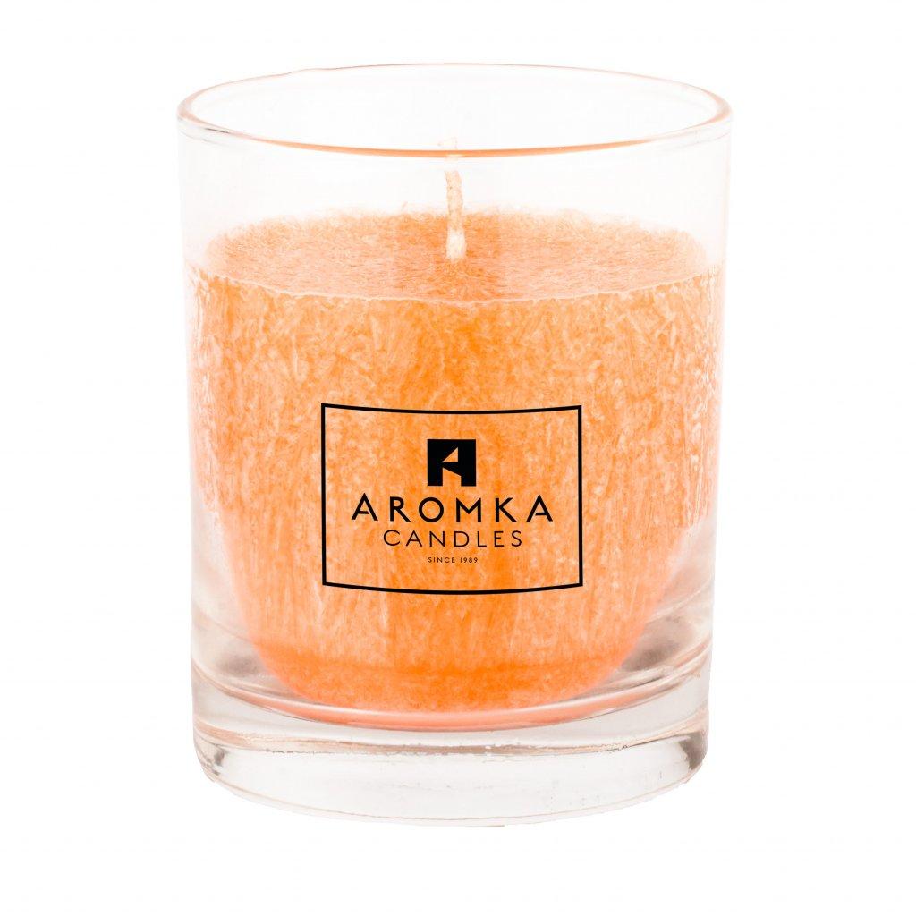 Přírodní vonná svíčka palmová - AROMKA -  Whiskovka, 250 ml - Lady