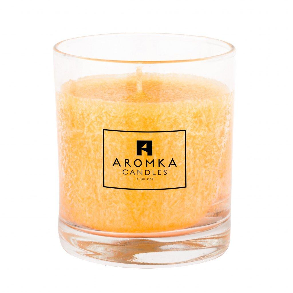 Přírodní vonná svíčka palmová - AROMKA - Whiskovka, 200 ml - Meloun s Okurkou