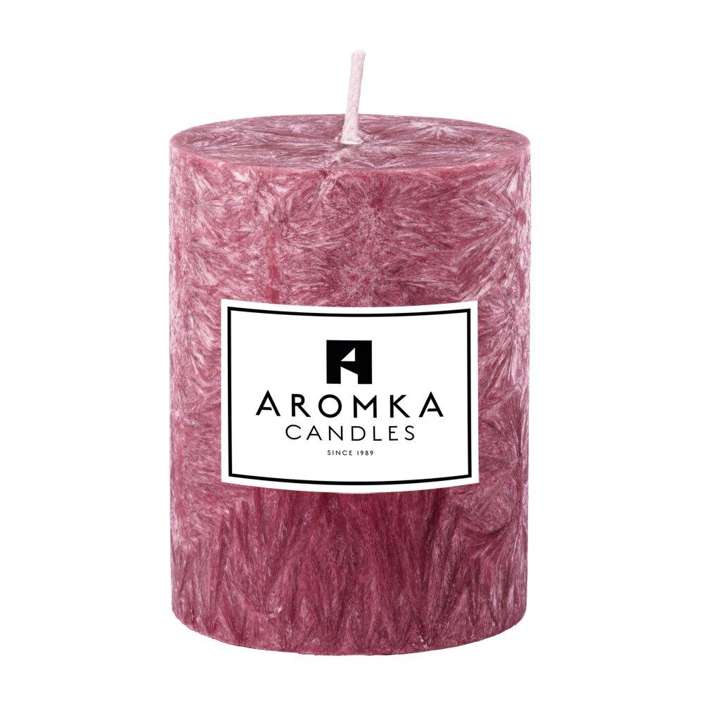 Přírodní vonná svíčka palmová - AROMKA - Válec, průměr 5,4 cm, výška 7 cm -Ostružina
