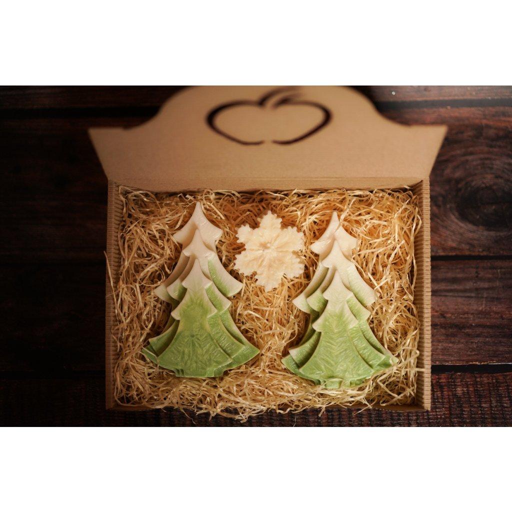 Vánoční balení - AROMKA - Sada stromků s vločkou