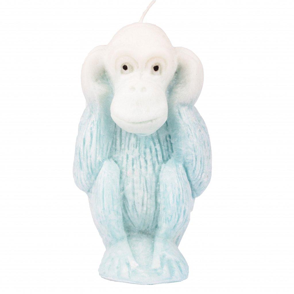 Přírodní vonná svíčka palmová - AROMKA - Opice neslyším, průměr 11 cm, výška 6 cm - Bílý Čaj