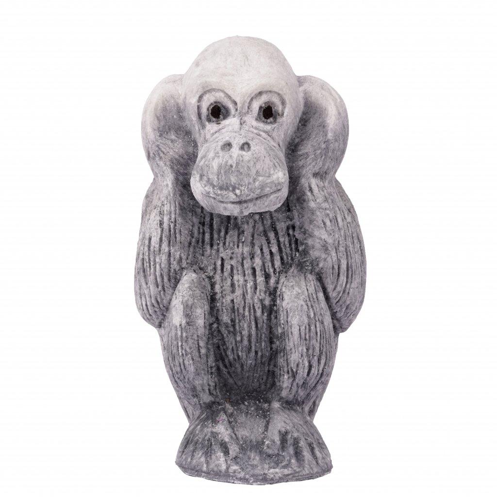 Přírodní vonná svíčka palmová - AROMKA - Opice neslyším, průměr 11 cm, výška 6 cm - Pánský Parfém