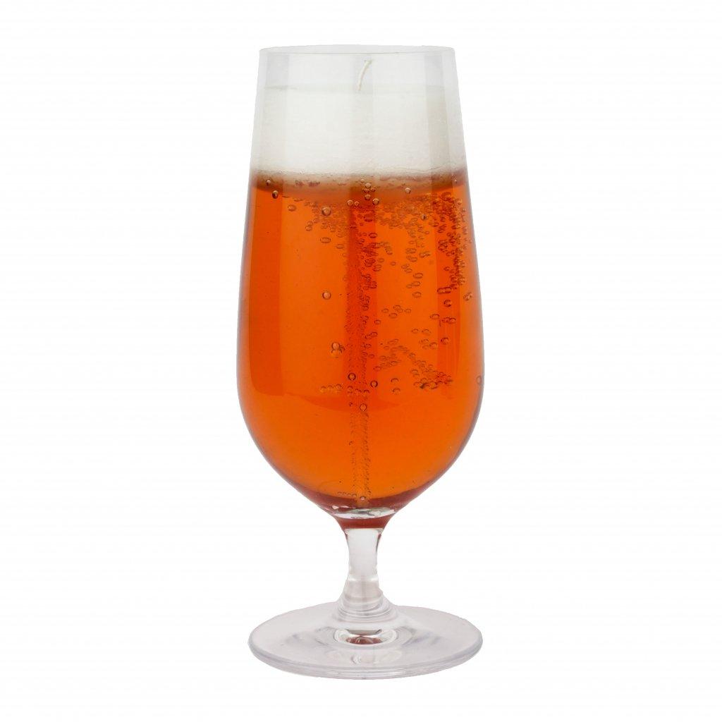 Přírodní vonná svíčka gelová - AROMKA - Pivo ve sklenici