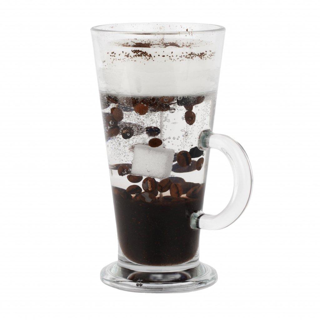 Přírodní vonná svíčka gelová - AROMKA - Káva ve vyšší sklenici