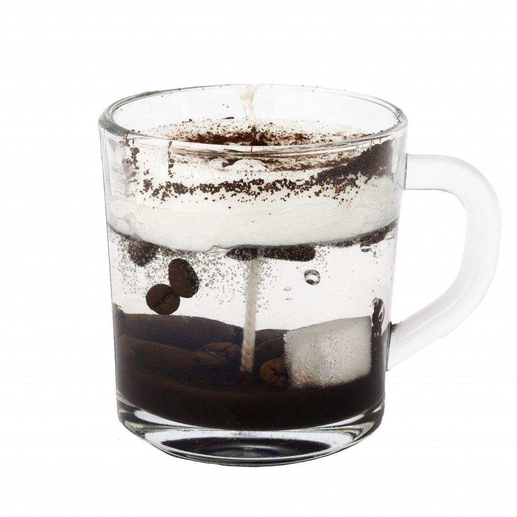 Přírodní vonná svíčka gelová - AROMKA - Kávička menší