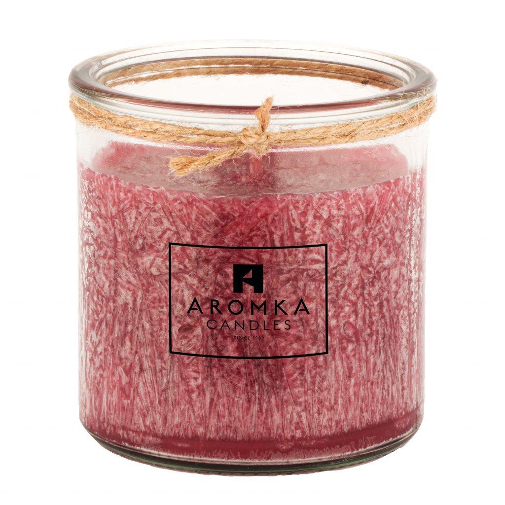 Přírodní vonná svíčka palmová - AROMKA - Recyklované sklo, 250 ml - Ostružina