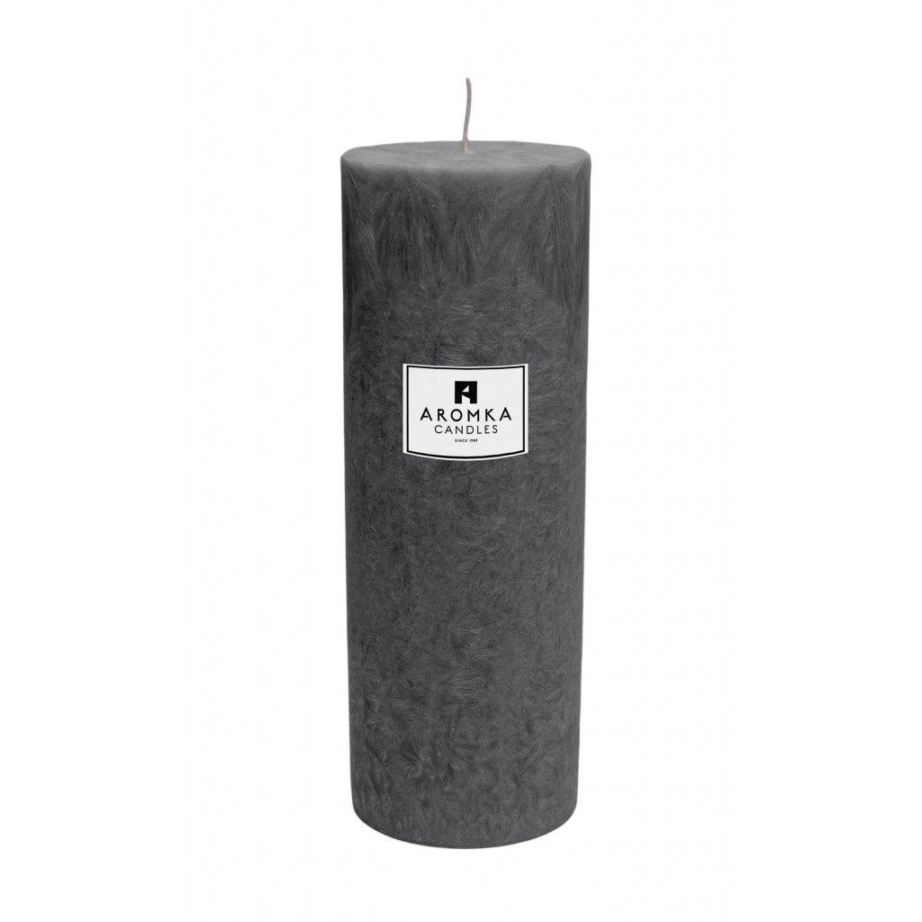 Přírodní vonná svíčka palmová - AROMKA - Válec, průměr 6,4 cm, výška 17,5 cm - Pánský Parfém