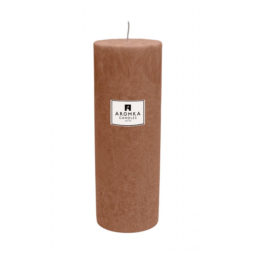 Přírodní vonná svíčka palmová - AROMKA - Válec, průměr 6,4 cm, výška 17,5 cm - Gentleman