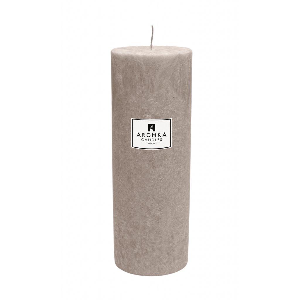 Přírodní vonná svíčka palmová - AROMKA - Válec, průměr 6,4 cm, výška 17,5 cm - Santalové Dřevo