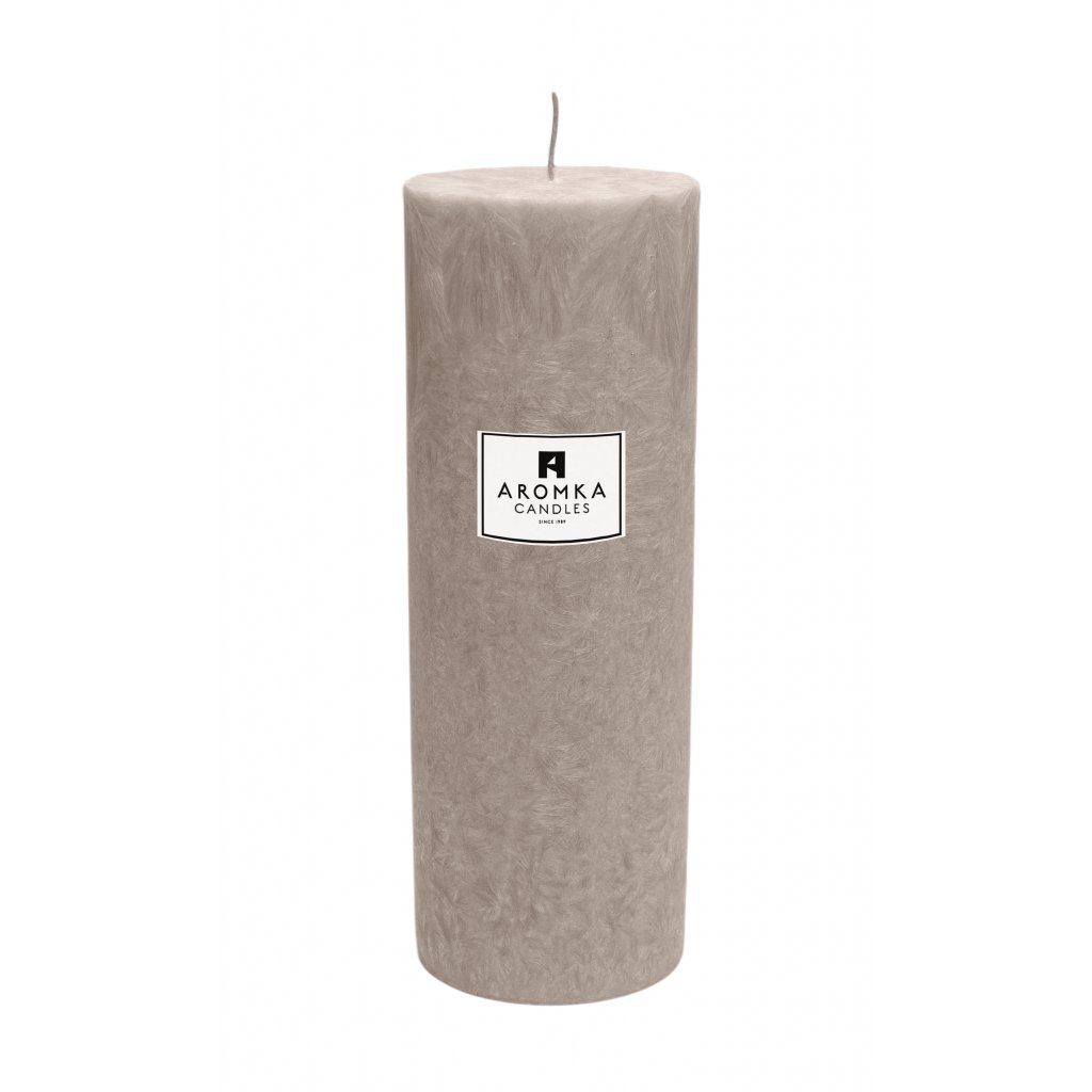 Přírodní vonná svíčka palmová - AROMKA - Válec, průměr 6,4 cm, výška 17,5 cm - Vanilka