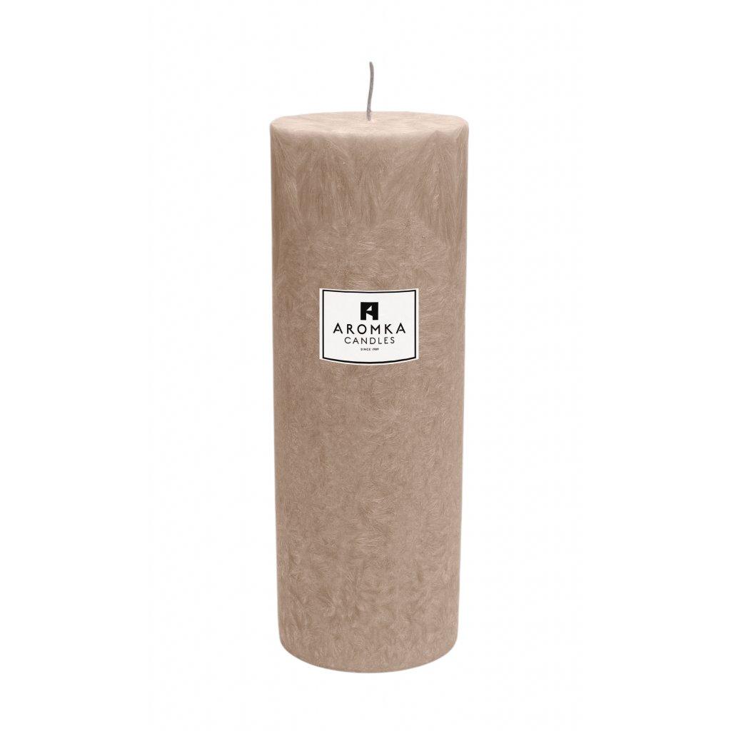 Přírodní vonná svíčka palmová - AROMKA - Válec, průměr 6,4 cm, výška 17,5 cm - Zázvor