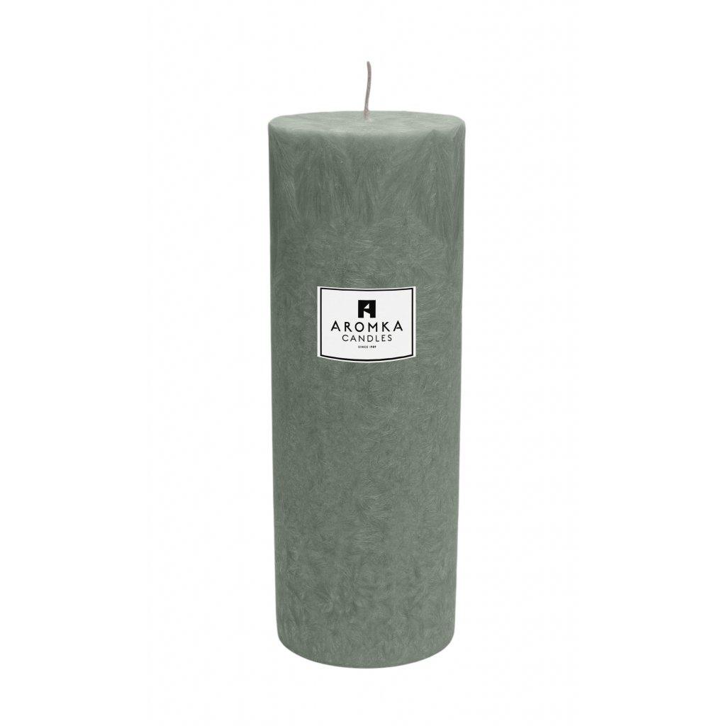 Přírodní vonná svíčka palmová - AROMKA - Válec, průměr 6,4 cm, výška 17,5 cm - Kopřiva