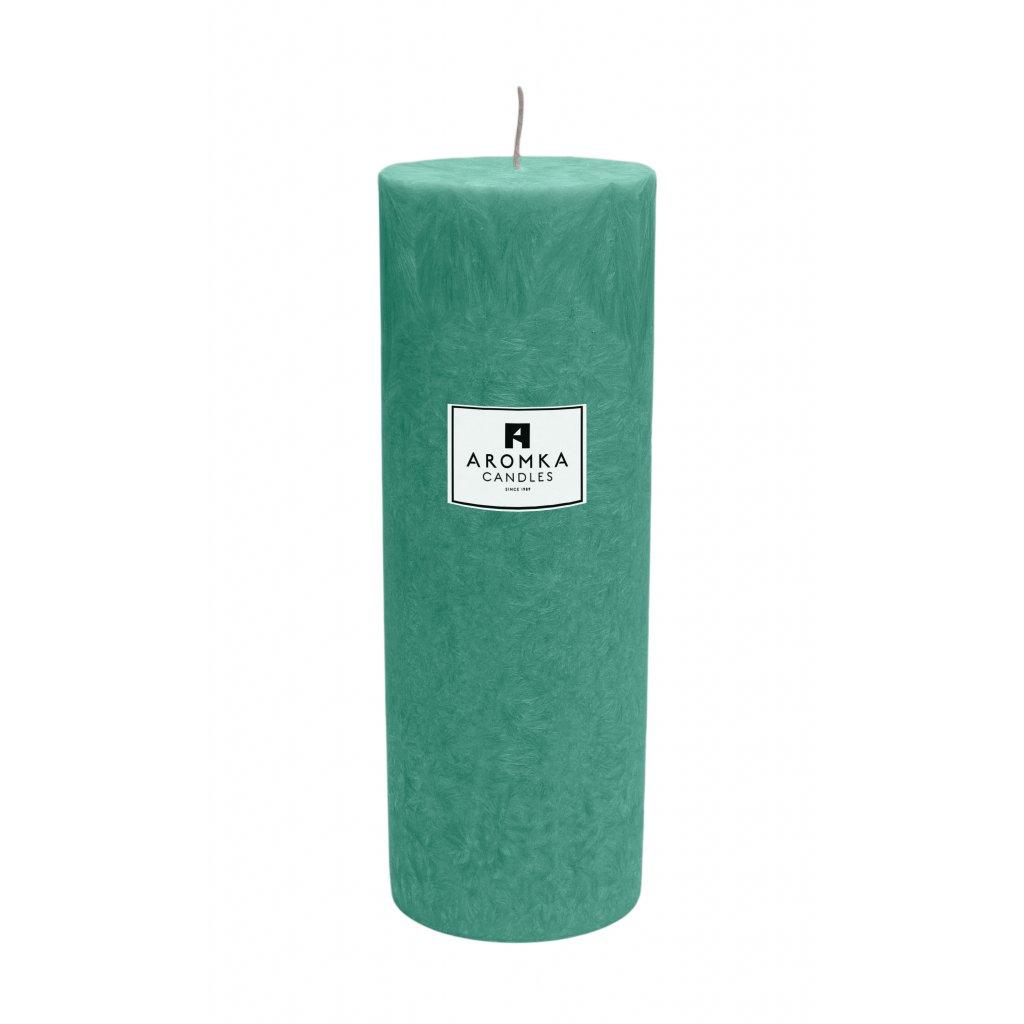 Přírodní vonná svíčka palmová - AROMKA - Válec, průměr 6,4 cm, výška 17,5 cm - Aloe Vera