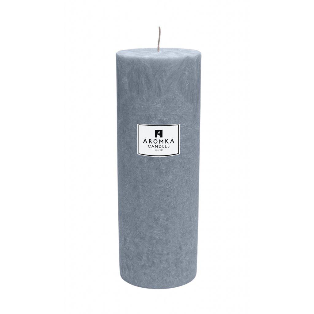 Přírodní vonná svíčka palmová - AROMKA - Válec, průměr 6,4 cm, výška 17,5 cm - Ambra