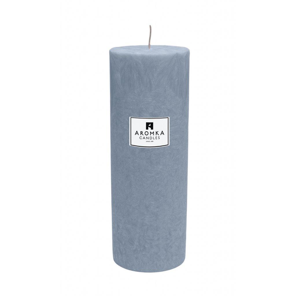 Přírodní vonná svíčka palmová - AROMKA - Válec, průměr 6,4 cm, výška 17,5 cm - Bílý Čaj