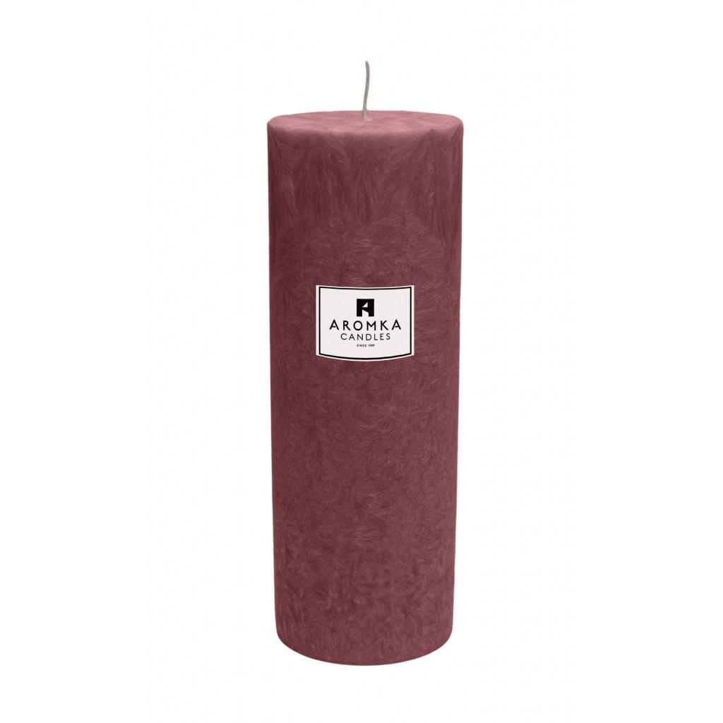 Přírodní vonná svíčka palmová - AROMKA - Válec, průměr 6,4 cm, výška 17,5 cm - Ostružina