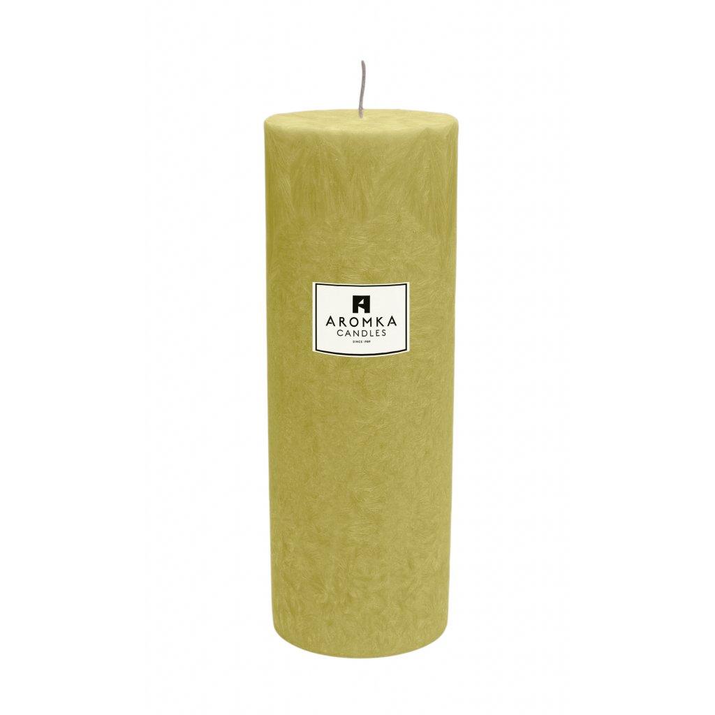 Přírodní vonná svíčka palmová - AROMKA - Válec, průměr 6,4 cm, výška 17,5 cm - Měsíček Lékařský